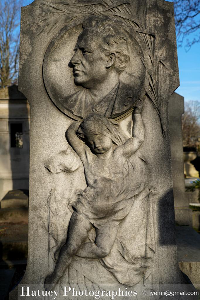 """Tombe de Georges LAMOTHE """"©Hatuey Photographies"""" 1842-1894, Art Funéraire, Cemetery, CemeteryPhotography, Cimetière, Cimetière du Père-Lachaise, Compositeur de musique, Division 44, France, Friedhof, MAINDRON Hippolyte (Sculpteur), Illustration, LAMOTHE Georges, Musique, Paris, PereLachaisePhotographie, Photo CImetière du Père-Lachaise, Père-Lachaise, Sculpteurs, cimitero, graveyard, ©Hatuey Photographies"""