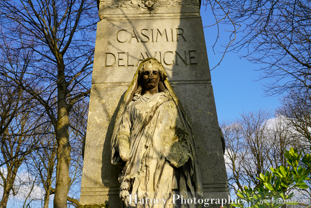 Architectes, Art Funéraire, Blouet A. (Architecte), Cemetery, Cimetière, Cimetière du Père Lachaise, cimitero, DELAVIGNE Jean-François Casimir, écrivain, France, Friedhof, graveyard, Normand Louis Marie (Architecte), Paris, Père Lachaise, Sculpteurs, Sculpture, SEURRE Bernard-Gabriel (Sculpteur), ©Hatuey Photographies