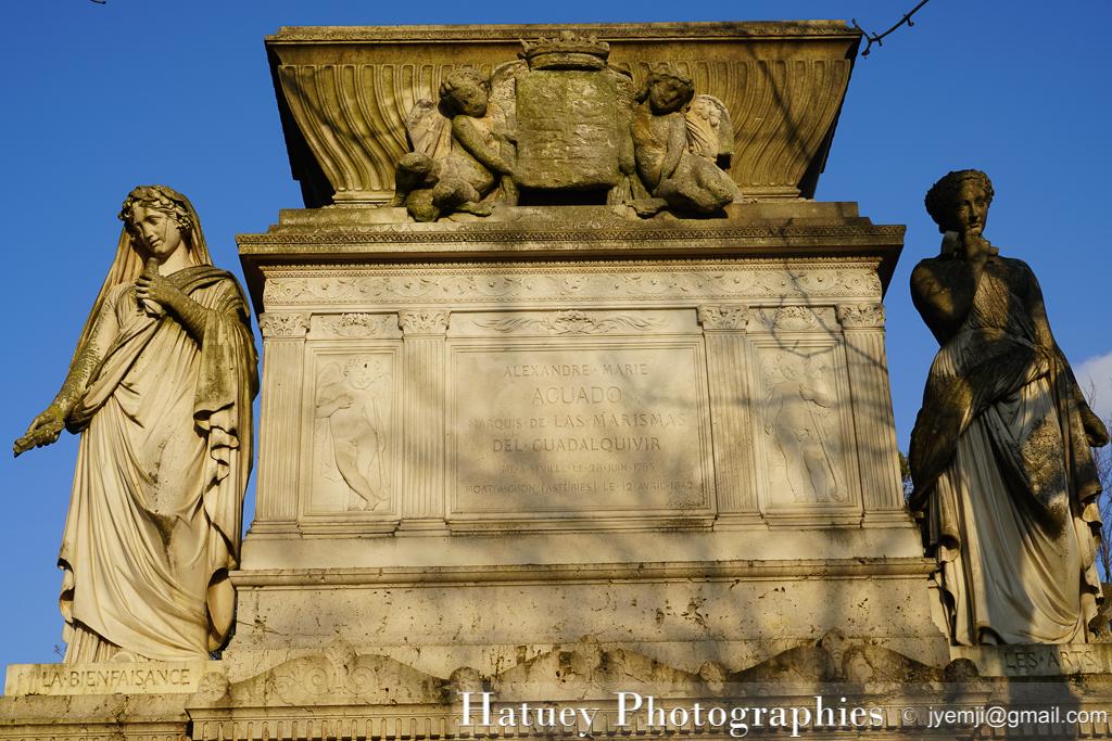 """Paris, Cimetiere du Pere Lachaise , Photographies de Paris, Cemetery Graveyard Cementerio Cimitero Friedhof , Cimetiere du Pere Lachaise , Photographies de la tombe de Alexandre Marie AGUADO (1784-1842) par """"©Hatuey Photographies"""