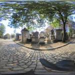 """Paris, Cimetiere du Pere Lachaise 360°, Avenue de la Chapelle - Chemin Errazu """"©Hatuey Photographies"""""""
